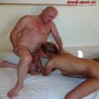 This horny slut loves an old cock