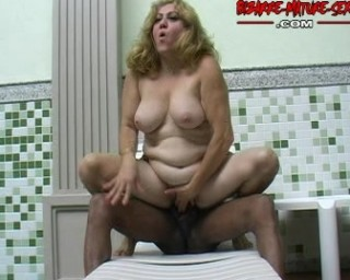 big black stick in a mature slut