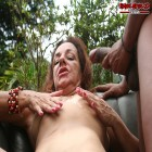 Horny Cristina loves two black strapping dudes