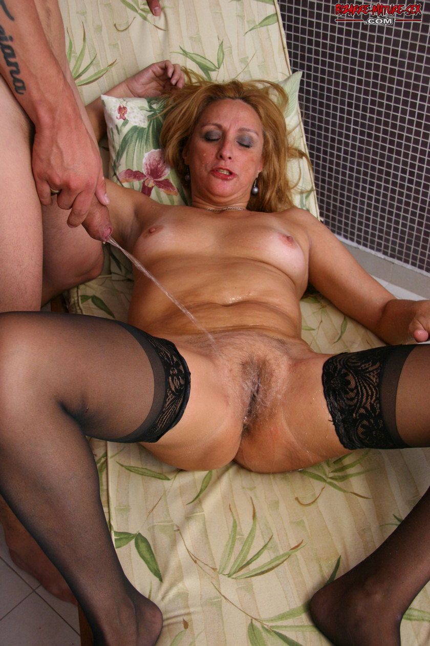 Horny Mature Bitch In Fucking And Pissing Action