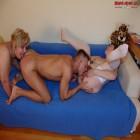 Three mature sluts having pissex with one dude
