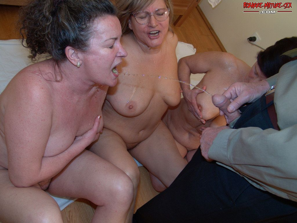 Mature group pissing