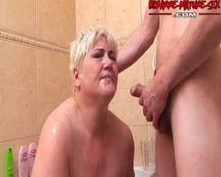 She loves two cocks and piss in her face