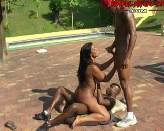That's one hot mature interracial gang bang