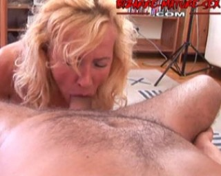 Horny MILF fucking, sucking and swallowing cum