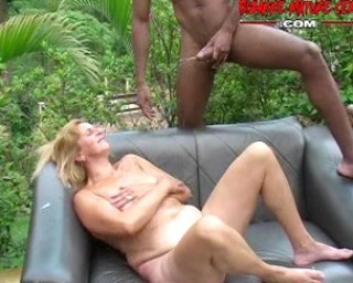 granny gets fucked by a bunch of black dudes