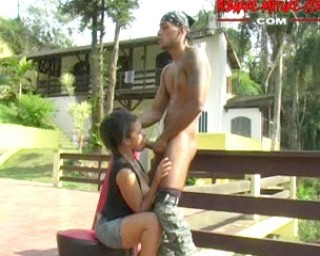 Hot mature slut gets the full load from a black man