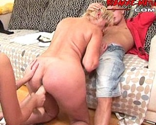 Fisted, asslicking, and pissed under mature slut