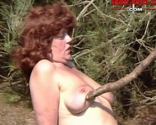 Kinky mature sex in the woods