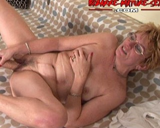 Horny granny doing kinky stuff