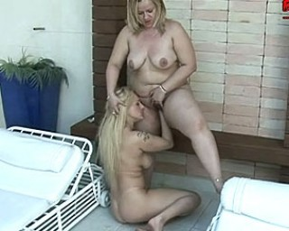 Housewife gets fisted by young girlfriend