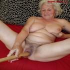 Granny gets off on a baseball bat
