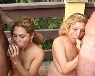 A horny housewife foursome