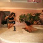 Hot mature fisting by the hot tub