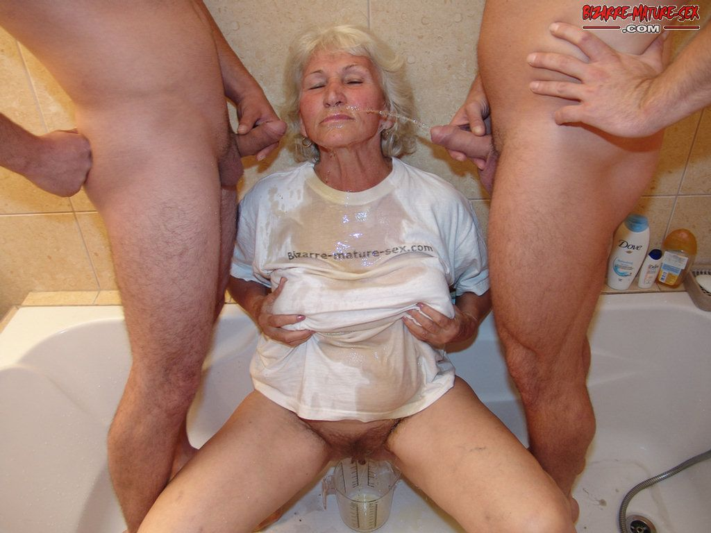 Granny pissing photos