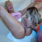 Hot and horny mature blonde sucking and fucking hard